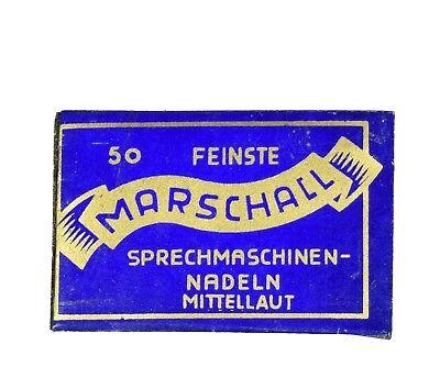 MARSCHALL Grammophonnadeln Nadeln vintage Grammophon gramophone aghi grammofono