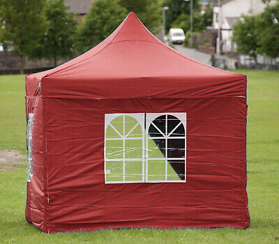 HERCULES GAZEBO® HEAVY DUTY RED COMMERCIAL GRADE POP UP TENT MARQUEE 3m x 3m