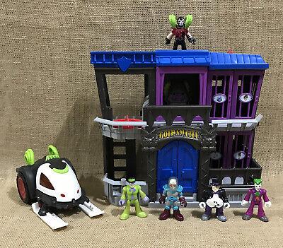Lot of Imaginext Batman Gotham City Jail Bane Battle Sled Joker Penguin Riddler