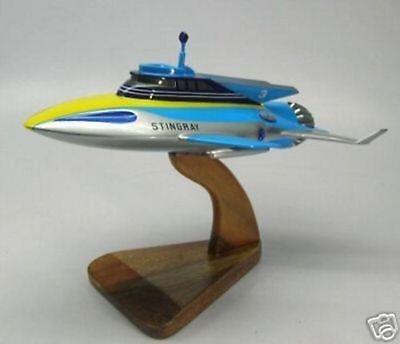 Stingray Anderson Submarine Thunderbird Desktop Wood Model Big New