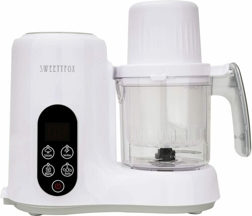 Sweety Fox All-in-one Baby Food Maker, Warmer, Steamer, Blender, Food Processor