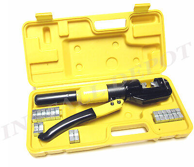 Industrial Grade Hydraulic Crimping Tool Large Battery Cable Lugs 12 To 20 Awg