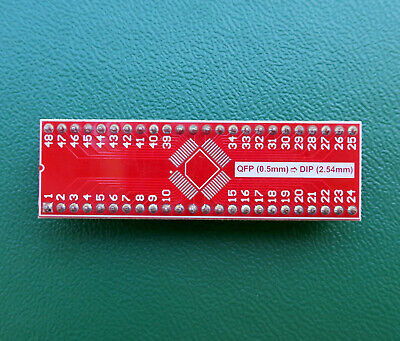 Qfp To Dip 0.5mm Adapter 48 Pin For Avr Stm32 Xmega  Soldered Pin Header
