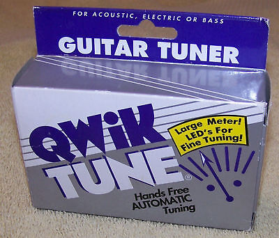 NEW Qwik Tune QT-1 Hands Free Auto Tuner for Acoustic Electric or Bass Guitar