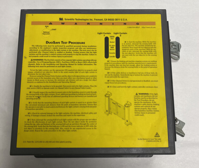 Sti 43207-0010 Light Curtain Controller Model Dsc1