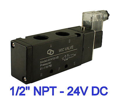 12 Inch Pneumatic 4 Way Electric Directional Control Air Solenoid Valve 24v Dc