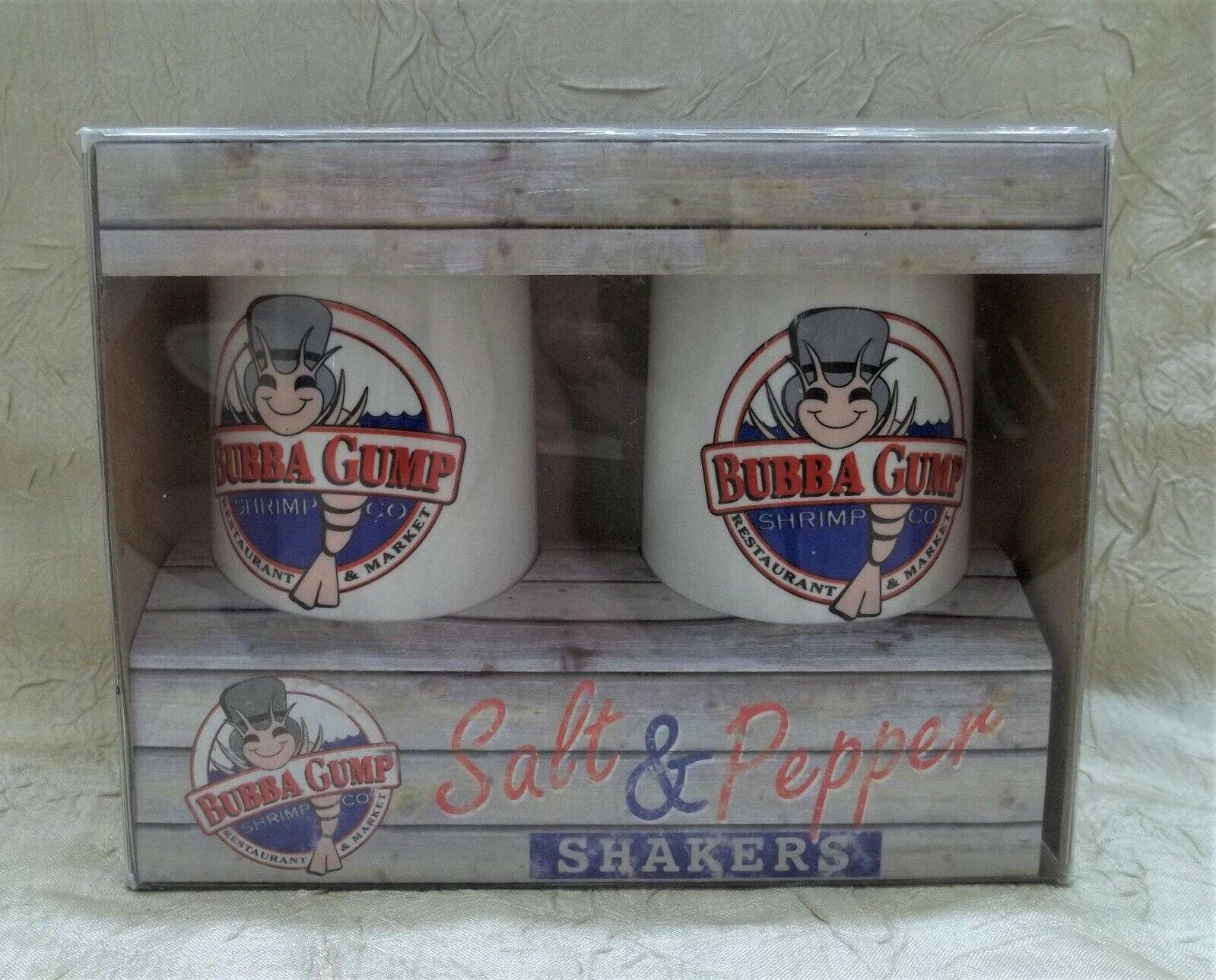 Bubba Gump Shrimp Company Restaurant Salt & Pepper Shaker Set New In Box