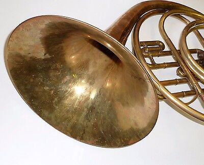 Collectible Early 20th Century Boosey & co. Lotone London French Horn In Case