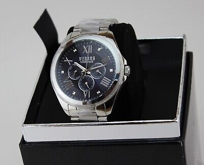 NEW AUTHENTIC VERSUS BY VERSACE ELMONT SILVER CHRONOGRAPH MEN'S VSPEA0518 WATCH