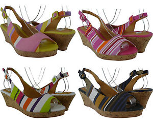 Women-Sandals-Wedge-Fashion-Style-Low-Med-Heels-Multi-Color-Cute-Desin-All-Size