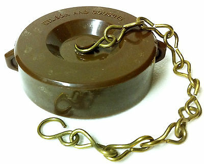 2-12 Nst Fire Hose Valvehydrant Standpipe Cap With Chain Golden Brown