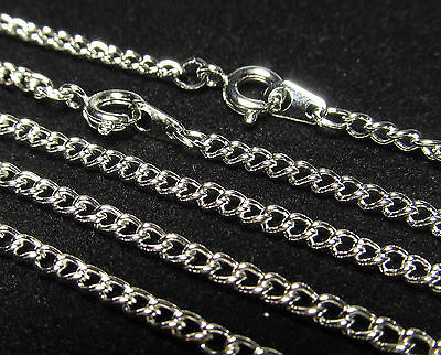 Wholesale 10 Pcs 24 Inch Rhodium Silver Plated Curb Chain  Necklace Lot