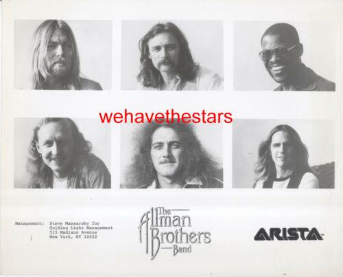 VINTAGE The Allman Brothers Band ROCK GROUP 70s Publicity Portrait