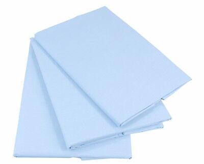 Hellblau Bettlaken Betttuch Haustuch 100% Baumwolle ohne Gummizug Nur 1 xPorto!