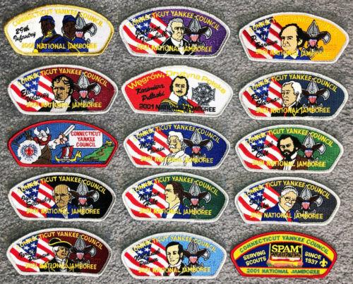2001 BSA Scout NATIONAL JAMBOREE PATCH JSP Connecticut Yankee Cncl SET of 15