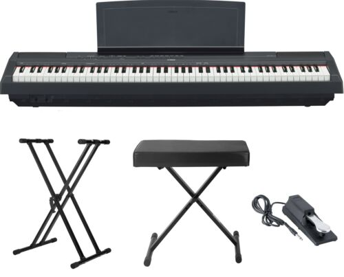 Yamaha P115 88 Weighted Key Digital Piano Bundle with Knox D