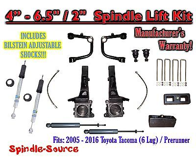 "05 - 16 Toyota Tacoma Prerunner 6.5"" / 2"" LIFT Kit, Bilstein 5100 Shocks, rs UCA"