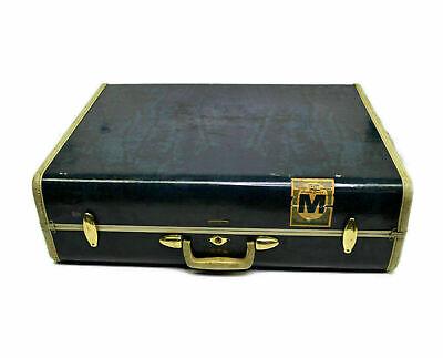 Vintage Samsonite Suitcase Blue Marble Beige 4736 26 Mid Century Modern Large - $50.00