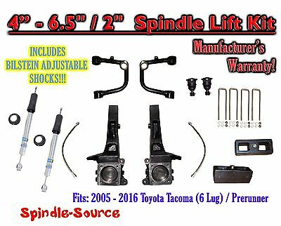 "05 - 16 Toyota Tacoma Prerunner 4 - 6.5"" / 2"" LIFT Kit, Bilstein 5100 Shocks UCA"