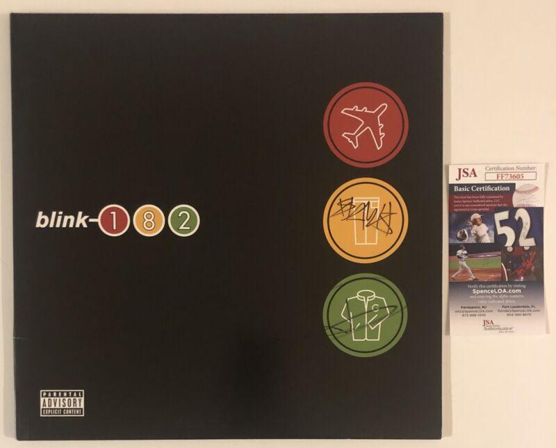 Blink 182 Signed Take Off Your Pants & Jacket Vinyl Record Travis Tom JSA COA