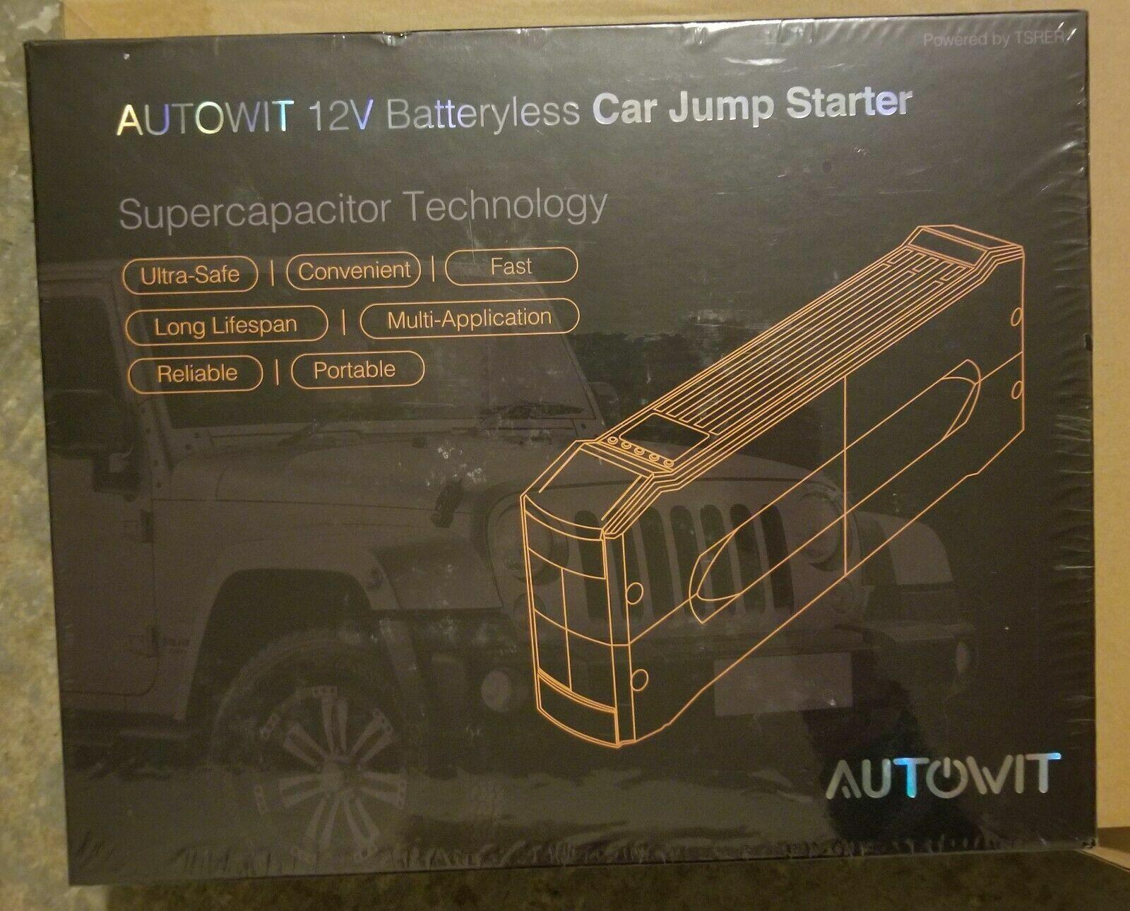 autowit 12V Portable Batteryless Car Jump Starter Supercap B