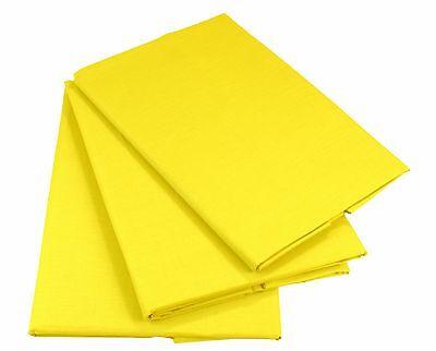 Gelb Bettlaken Betttuch Haustuch 100% Baumwolle ohne Gummizug Nur 1 xPorto!