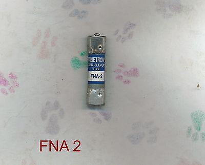 BUSSMANN FUSETRON FNA2 FUSE FNA 2 125 VOLT 2 AMP - 2 Amp Bussmann Fuse