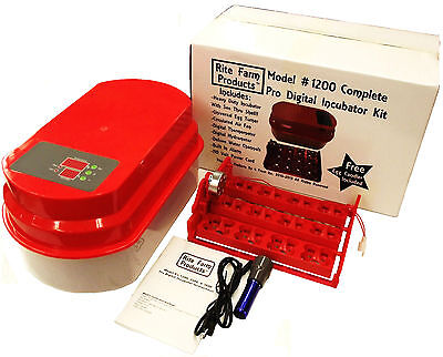 Red Rite Farm 1200 Pro Digital Incubator Kit Turner Thermhygrometer Chicken Egg