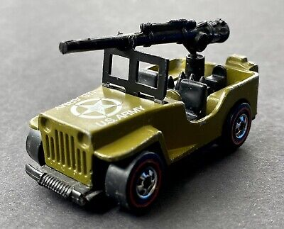 1975 Hot Wheels Redline Gun Slinger US Army Jeep Flying Colors Super Clean  Wow!
