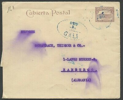 COLOMBIA PS ENVELOPE HG 7A CALI TO HAMBURG, GERMANY AS SHOWN