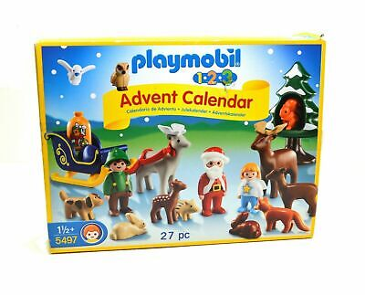 PLAYMOBIL 123 5497 Advent Calendar Christmas in the Forest Open Box Xmas Gift
