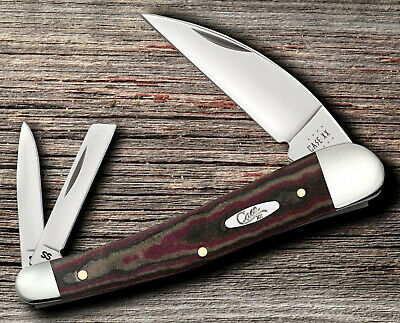 "CASE XX 13626 SEAHORSE WHITTLER POCKET KNIFE RUSTIC RED RICHLITE HANDLE 4"" NIB"