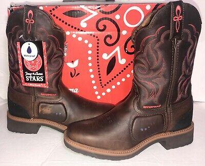 TONY LAMA Stars ST1009 Women's Waterproof Western Cowboy Boots NWT/Minor Defects Tony Lama Stars