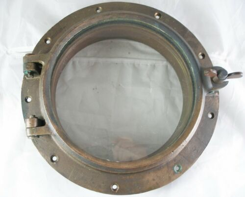 Antique bronze  porthole, Wilcox Crittenden WC #8 Porthole 1950
