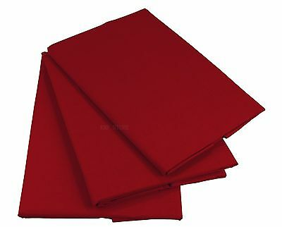 Rot Bettlaken Betttuch Haustuch 100% Baumwolle ohne Gummizug  Nur 1 xPorto!