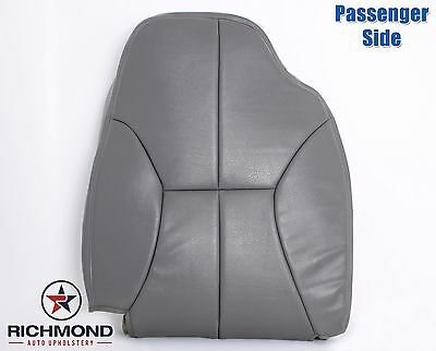 2002 Dodge Ram 3500 SLT 4X4 2WD-PASSENGER Side Lean Back Leather Seat Cover Gray