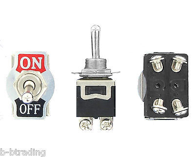 Heavy Duty 20a 125v Ac 15a 250v Ac Dpst Onoff 2 Position 4 Termtoggle Switch