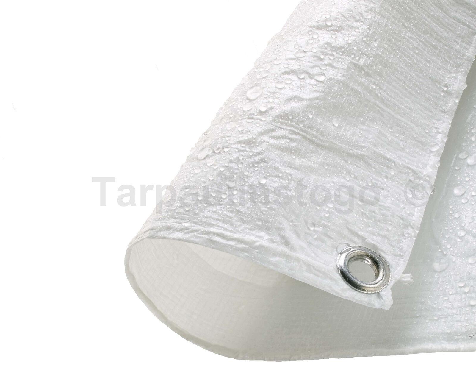 Waterproof Tarpaulin Ground Sheet Lightweight Camping Cover Tarp with Eyelets - 6