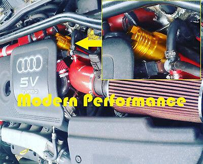 GOLD Diverter Splitter Turbo Blowoff Valve VW 1.8T Golf Jetta Beetle A4 TT BOV
