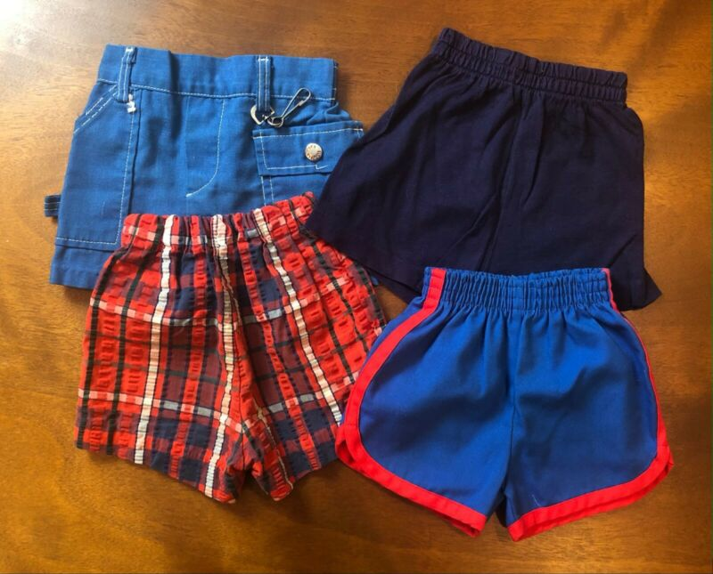 Lot of 4 Vintage 1970s Shorts Unisex  Healthtex etc.