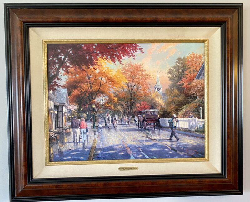 Autumn on Mackinac Island THOMAS KINKADE Oil Painting Framed w/Certificate