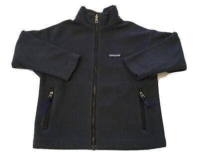 Patagonia Kids Fleece Jacket xs 5 6 dark blue Fall Winter