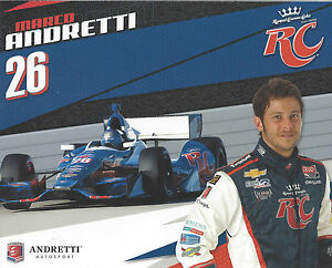 2012-INDY-500-MARCO-ANDRETTI-USA-RC-COLA-INDYCAR-8-X10-HERO-CARD