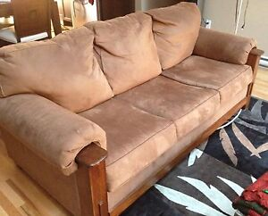 Craftsman style sofa, made by Ashley Furniture