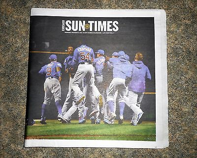 Chicago Sun Times 11 3 2016 Cubs Win World Series  Go Cubbies