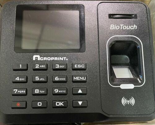 Acroprint BioTouch Time Clock Hours/Minutes/Seconds Stores 1000 Fingerprints