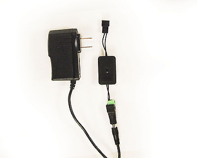 12V 1A Cooling Fan 3 Speed Control Controller PC Case & 120V AC Adapter 1023*