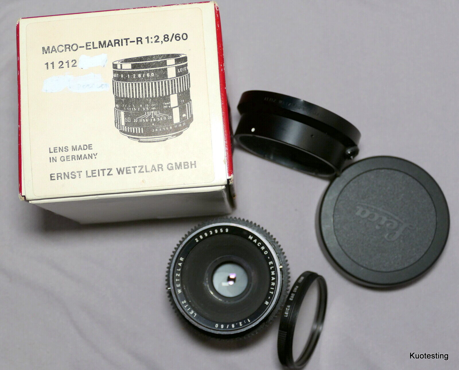 Leica 60mm F2.8 MACRO-ELMARIT-R 3-CAM Lens In Leica Box Without Matching S.N. - $340.00