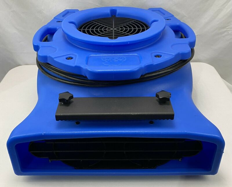 B-Air 1/4 HP Low Profile Blue Air Mover Blower Fan for Water Damage Carpet Dryer
