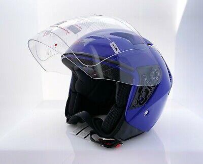 Blue Motorcycle Scooter Chopper Helmet DOT S, M, L, XL
